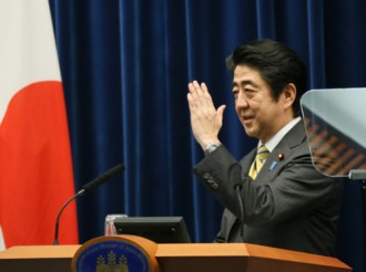 Prime Minister Abe at the press conference, 24 June 2014.Source: Website of the Prime Minister of Japan and his Cabinet