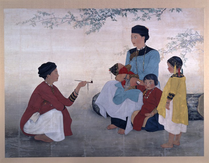 """The Women of Shantimen Area"" by Chen Chin (1936), Fukuoka Asian Art Museum   ALL ILLUSTRATIONS: COURTESY OF FUKUOKA ASIAN ART MUSEUM"