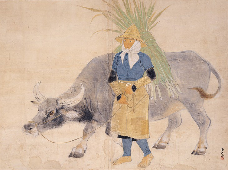 """On the Way Home"" by Lin Yu-shan (1944), Taipei Fine Arts Museum"