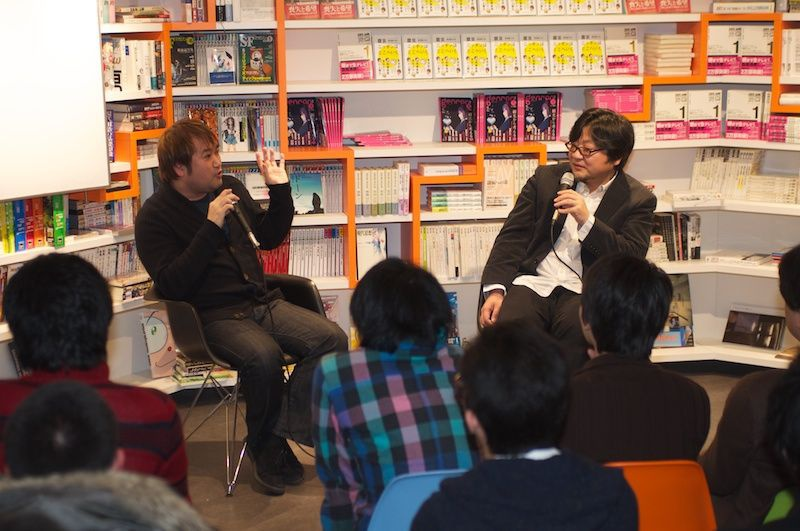 Azuma (left) and Hosoda. PHOTO: COURTESY OF GENRON CO., LTD.